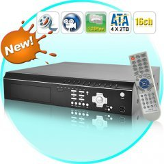 16 Channel DVR Security System with 4 SATA HDD Interfaces