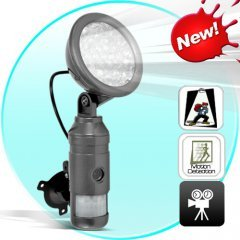 Intruder Deterrent with Motion Detect Video Recording