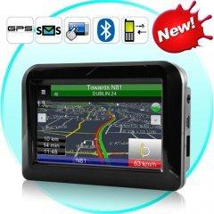 Handheld GPS Navigator and Mobile Phone with Internet