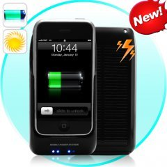 iPhone Solar Battery Charger - Holder for 2G, 3G and MP4 Player