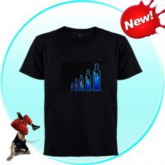 EL-Shirt - Sound Activated Light Shirt for Parties (Bottle-XL)