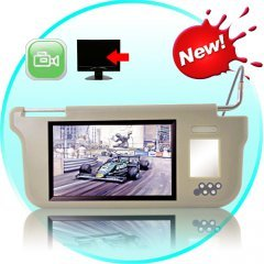 Sun Visor with 9 Inch LCD Monitor (Beige, Right)