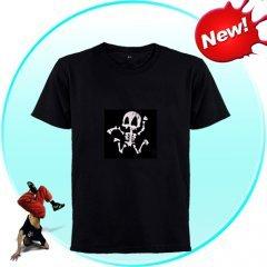 EL-Shirt - Sound Activated Light Shirt for Parties (Skeleton-L)