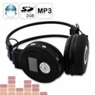 Folding Headphone MP3 Player - Wireless Audio Gadget