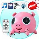 Piggy Desktop Stereo Speaker - (SD Card, USB, MP3 Player)