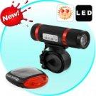 Super Bright LED Bicycle Light Set - Solar Edition