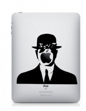 Son Of Man Magritte iPad ORIGINAL Vinyl Graphic Decal Sticker