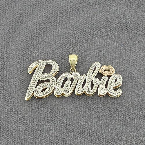 10kt Gold Personalized Nicki Minaj Barbie Name Pendant Necklace ND61