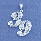 Sterling Silver Double Plated Any Two Numbers Pendant SP67