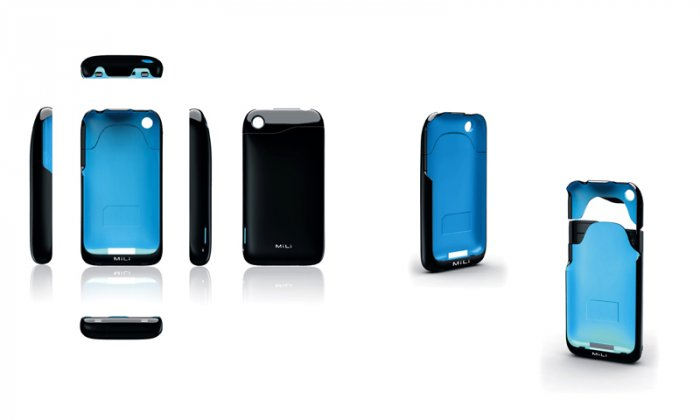 MiLi Power skin for iphone 3G 3GS+Pogo Sketch or Sound Clip ( choice one)