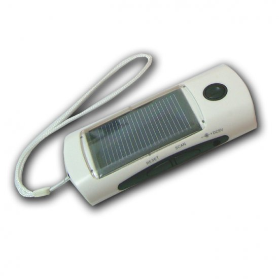 solar flashlight with FM radio