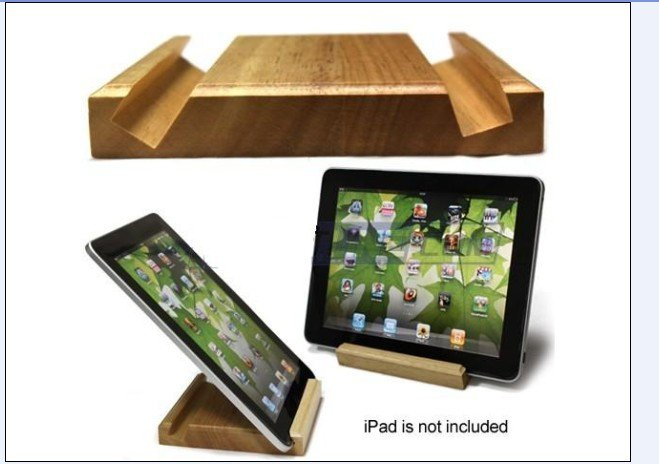 wooden stand for iPad new dual function 18 and 45 degree groove