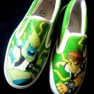 Ben 10 Hand Painted Shoes (Unisex slip on)