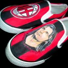 AC Milan Hand Painted Shoes (Unisex slip on)