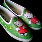 Hello Kitty Hand Painted Shoes (women's slip on)