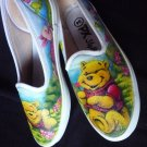 Winnie the pooh Airbrushed Shoes (women's slip on)