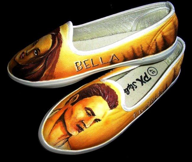 Twilight Edward Bella Hand Painted Shoes (women's slip on)