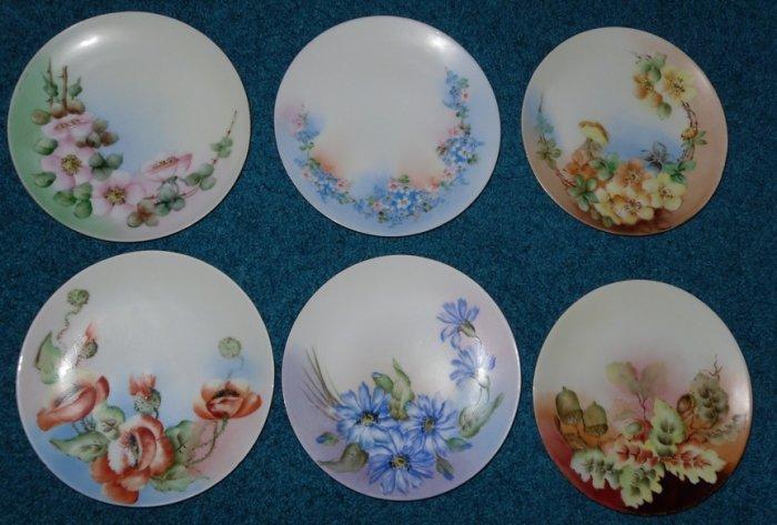 6 Thomas Severs Bavaria Plates lot artist signed Kumph