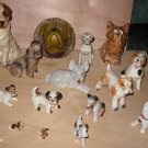 15 vintage dog figurines collection mixed lot