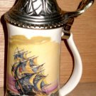 Nelson McCoy Pottery Co. Ship Beer Stein Mug