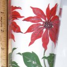 Boscul Peanut Butter Glass Poinsettia Red & Black