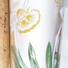 Boscul Peanut Butter Glass White Daffodil Flower