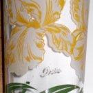 Boscul Peanut Butter Glass White Iris Flower