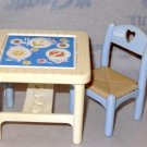 Fisher Price Loving Family Table 2 chairs & High Chair