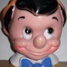 Pinocchio Bank 1971 Walt Disney Play Pal Plastics