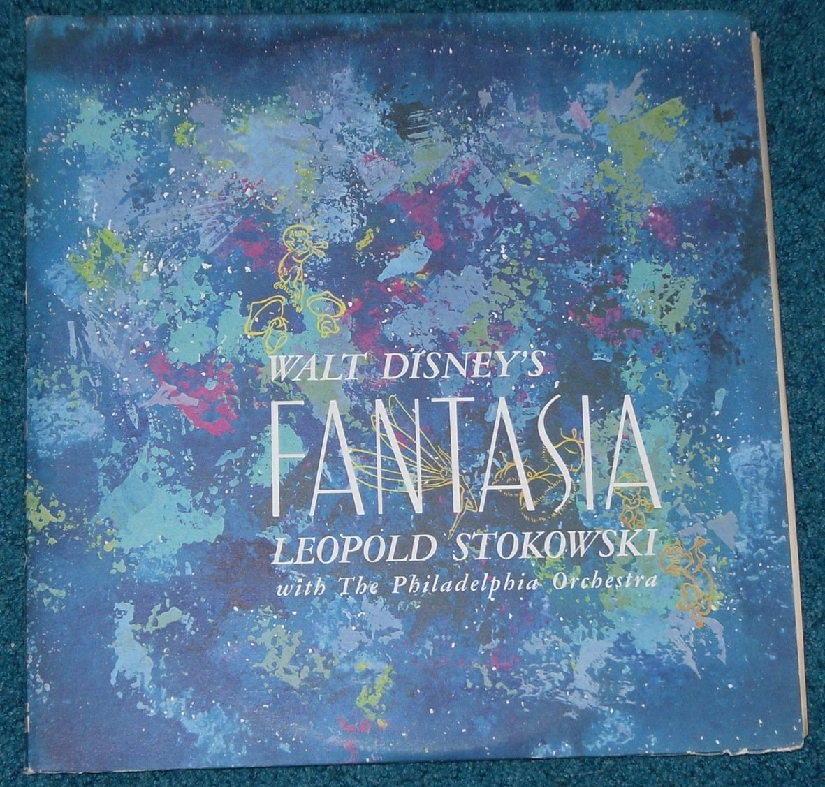 Disney Fantasia Sound Track LP Vinyl Record