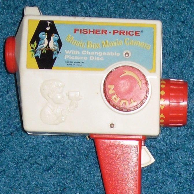 Fisher Price Music Box Movie Camera & Picture Disks