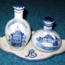Zenith Gouda Bols Decanters Plate Set Delft Holland