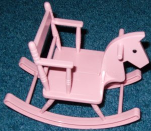Baby Doll Rocking Horse Chair Galoob Bouncing Kids