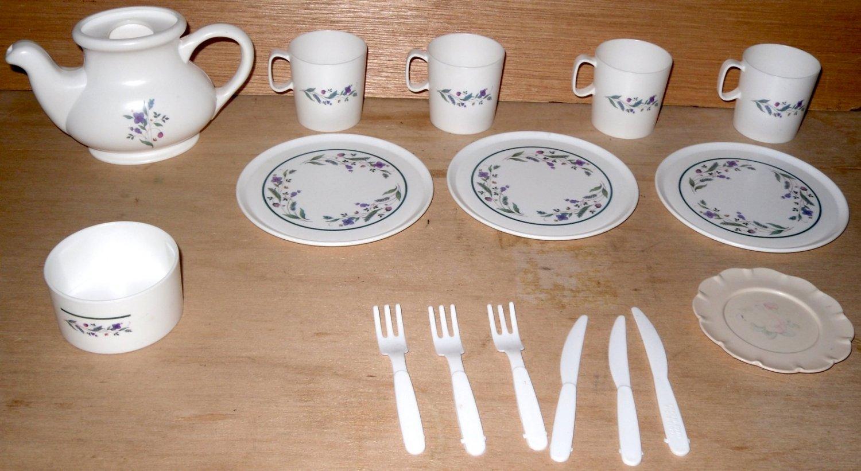 Vintage Tootsie Toy Doll Dishes Tea Set