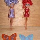 2 Fairy Dolls 6 Interchangeable Butterfly Wings