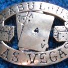 Las Vegas Brass Belt Buckle Black Jack