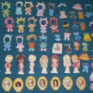Little Kiddle Paper Dolls 64 piece lot Mattel 1967