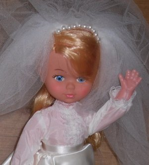 Vintage Blond Bride Doll Hong Kong