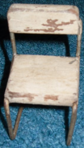 Vintage Doll House Chair Wood & Metal 1930s-1940s dollhouse