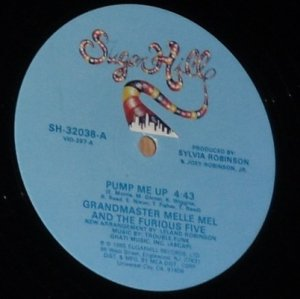 "Grandmaster Melle Mel Pump Me Up, 12"" Record, SugarHill 1985"
