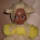 Mammy Doll Handmade Yarn Plastic head Black African American