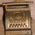 Doll House Brass Cash Register Miniature