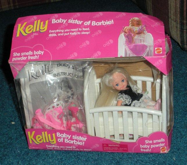 Kelly Baby Sister Of Barbie Doll Crib Set Mattel