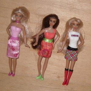 Miniature Barbie Dolls Mcdonalds Mattel
