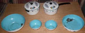 Wolverine Tin Toy Metal Pots Pans Bowl Cookware