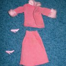 Barbie Doll Pink Corduroy Skirt, Jacket, Shoes Set