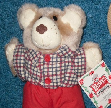 Wendy's Restaurant Furskins Bear 1986