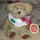 Brass Button Plush Bear Rosie