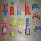 Polly Pocket Magnetic Doll Clothes Shoes Lot