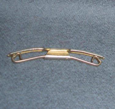 Vintage Swank Collar Holder B&W Plate Art Deco Clip Bar Tie